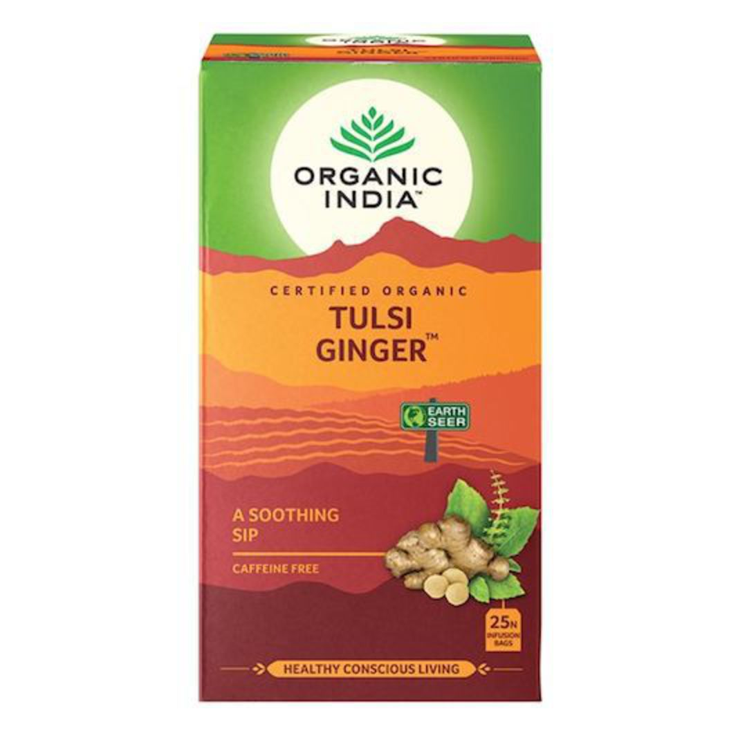 Organic India Tulsi Ginger, 25 tea bags image 0
