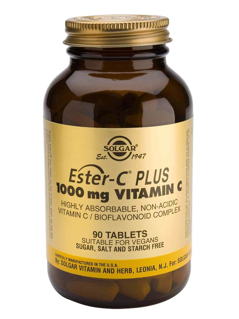 Solgar Ester-C Plus 1000mg Vitamin C, 90 or 180 Tablets image 0