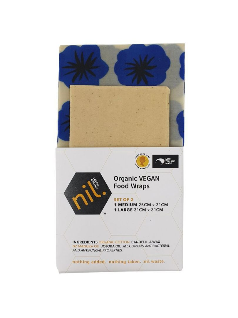 nil VEGAN organic food wraps, Blue range, 2Pack image 0