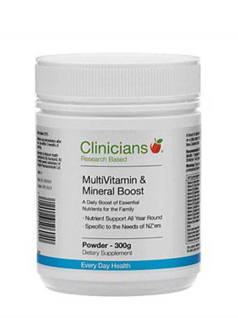 Clinicians MultiVitamin & Mineral Boost, 300g or 150g  Powder image 0