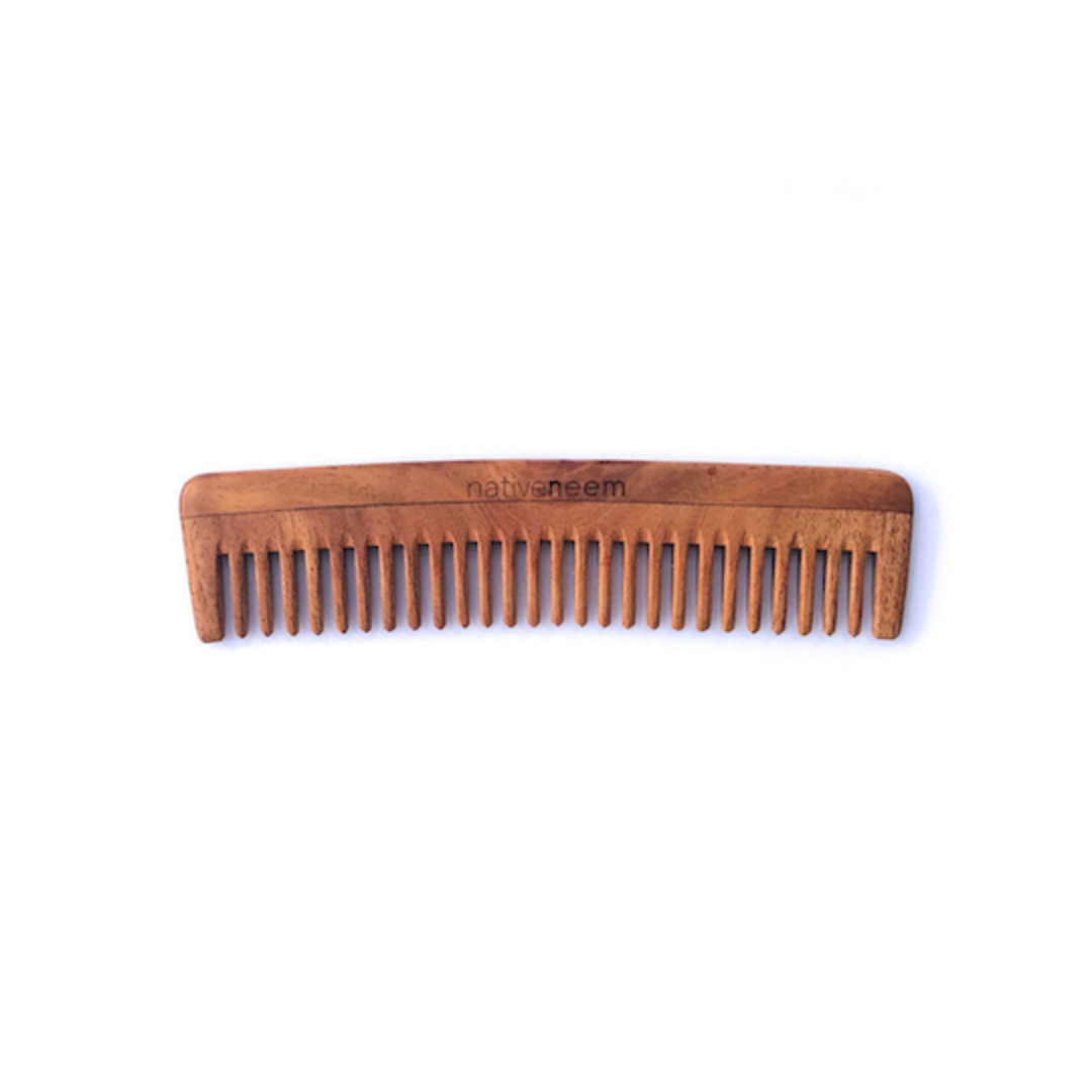 Native Neem Wooden Neem Comb Wide Tooth image 0