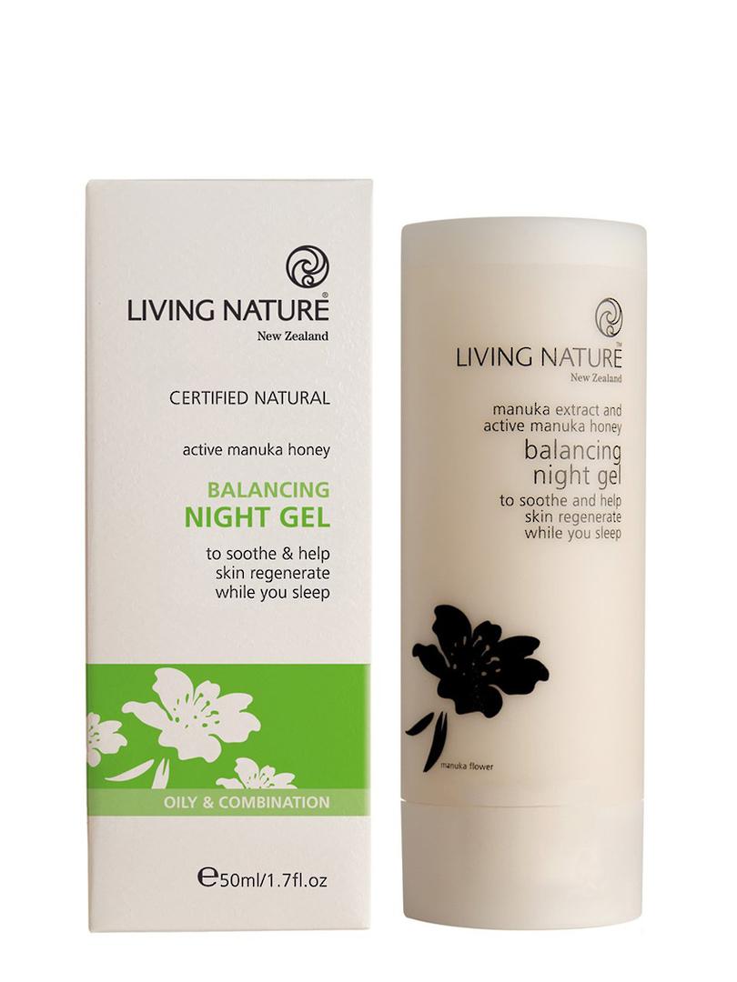 Living Nature Balancing Night Gel (oily/anti-acne), 50ml image 0