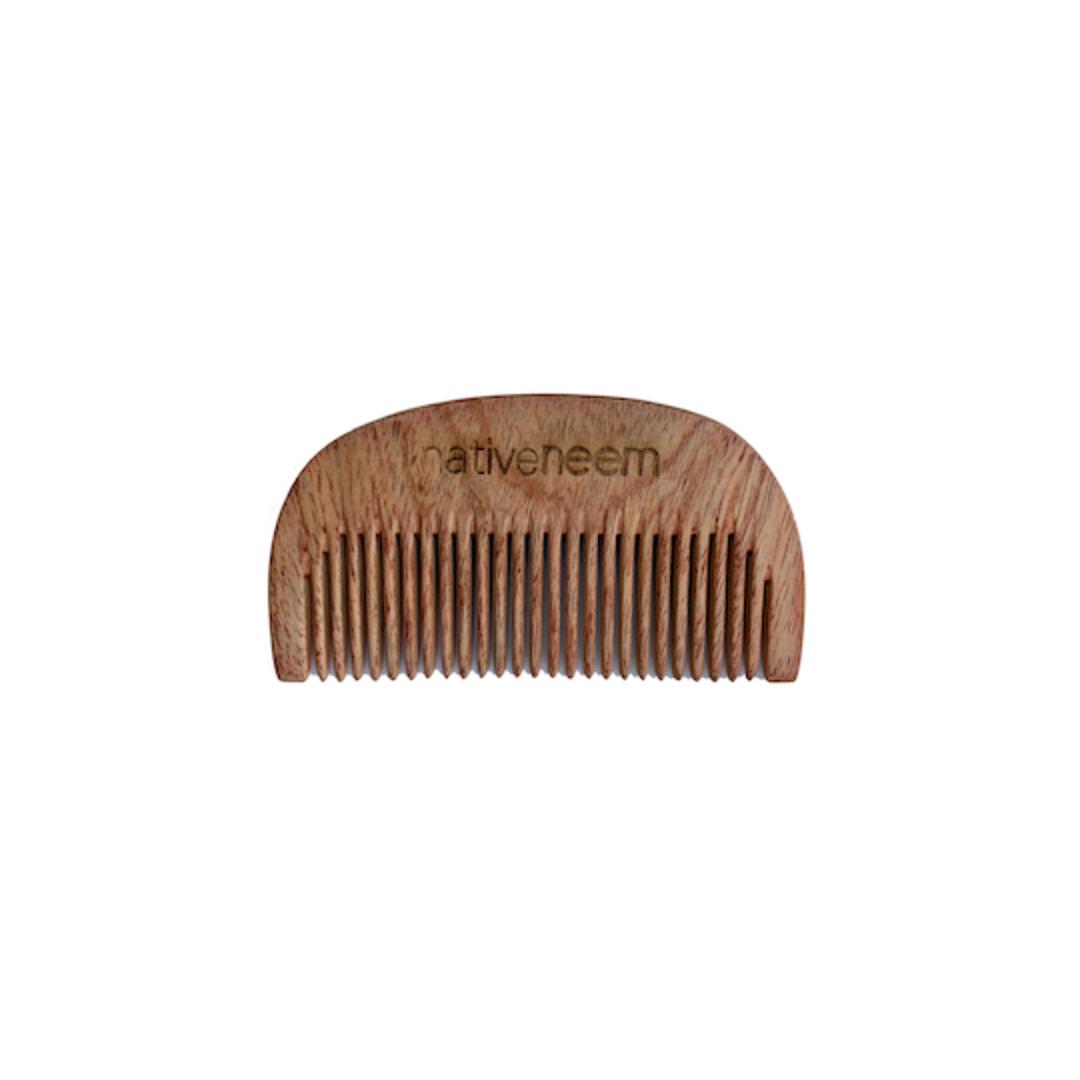 Native Neem Wooden Pocket Comb image 0
