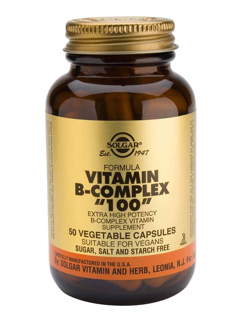 "Solgar Vitamin B Complex ""100"" , 100 Vegetable Capsules image 0"