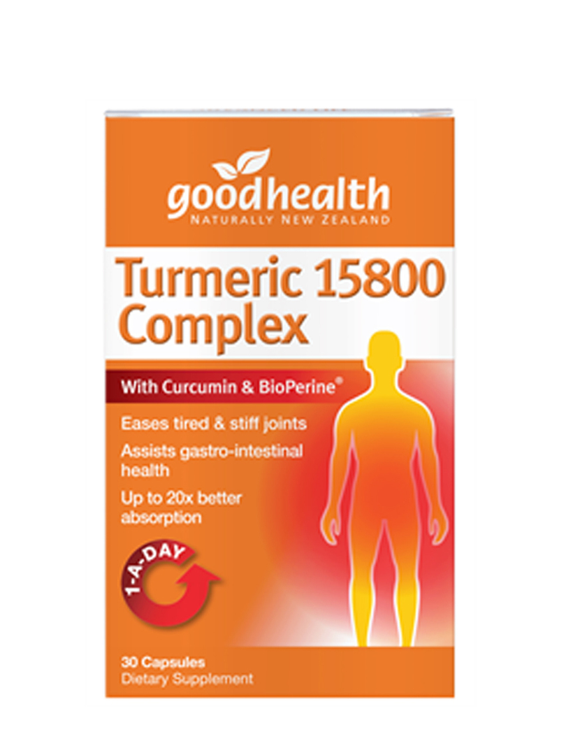 Good Health Turmeric 15800 Complex, 30 or 60 capsules image 0