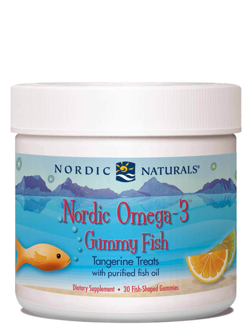 Nordic Naturals Omega-3 Gummy Fish  (30 chewy tangerine fish for ages 2+) image 0