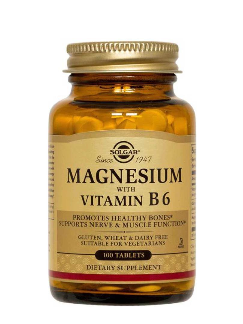 Solgar Magnesium with Vitamin B6, 100 tablets image 0