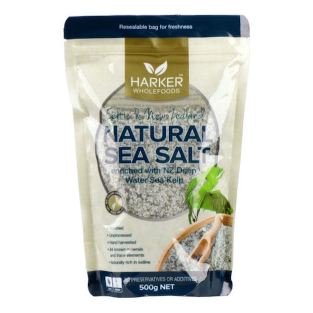 Harker Herbals Celtic & NZ Sea Salt with Kelp (1022), 500g image 0