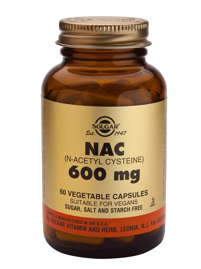Solgar NAC 600 mg (60 Vegetable Capsules) image 0