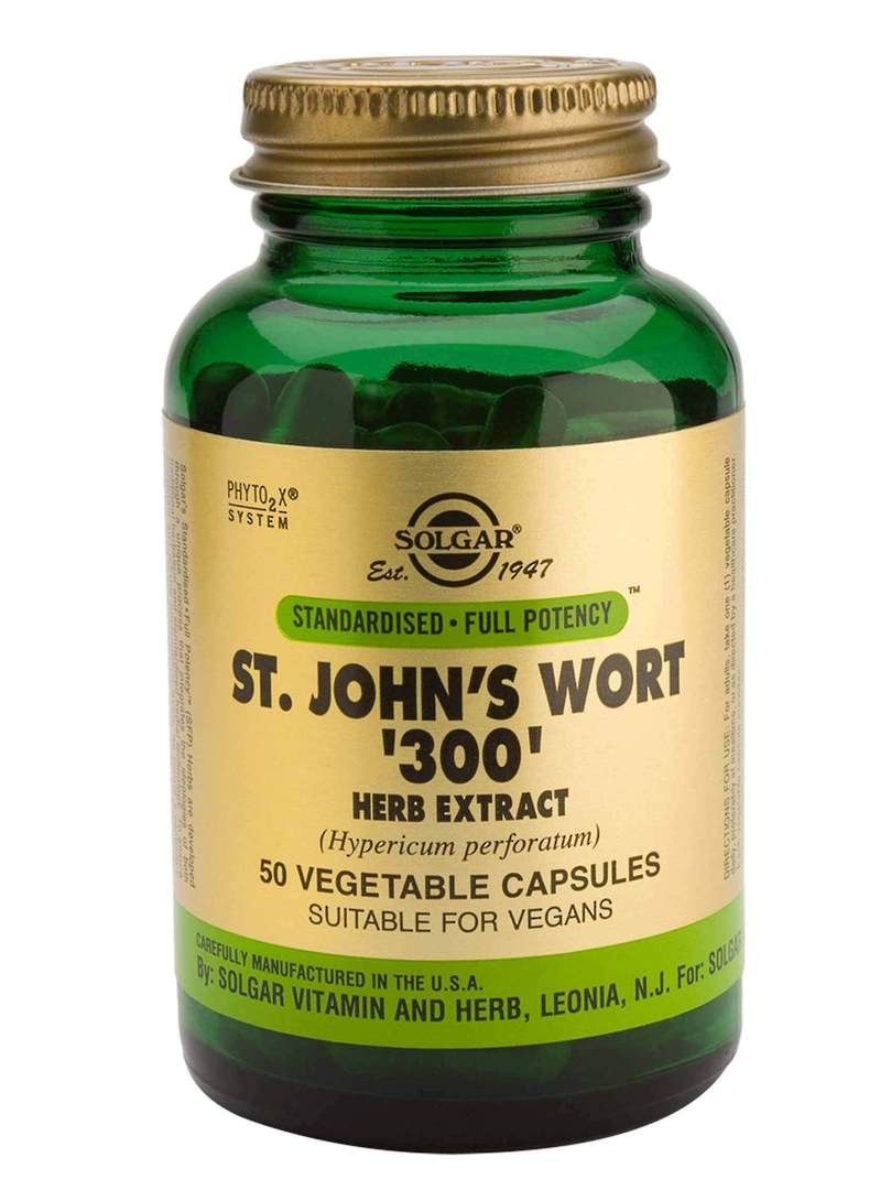Solgar St Johns Wort Extract 300mg (50 Vegetable Capsules) image 0