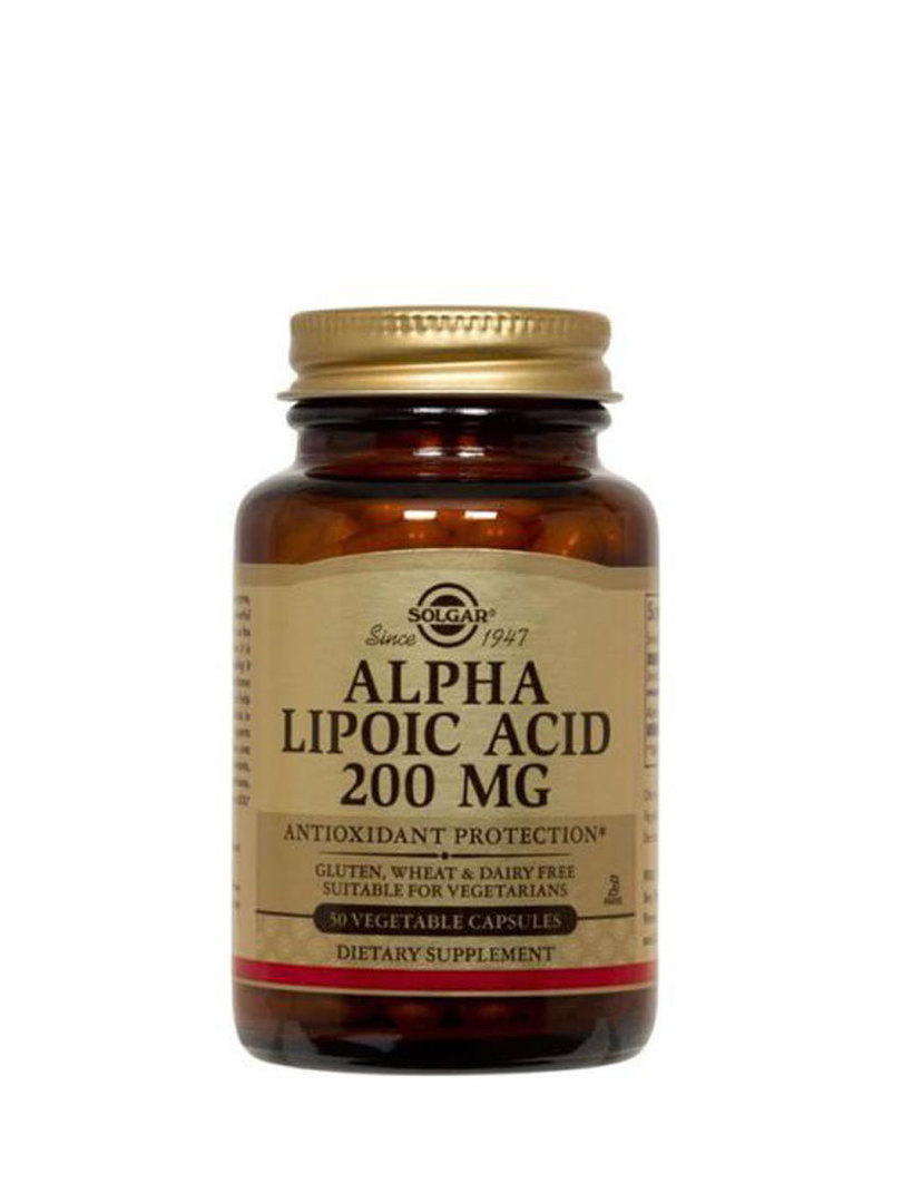 Solgar Alpha Lipoic Acid 200mg (50 Capsules) image 0
