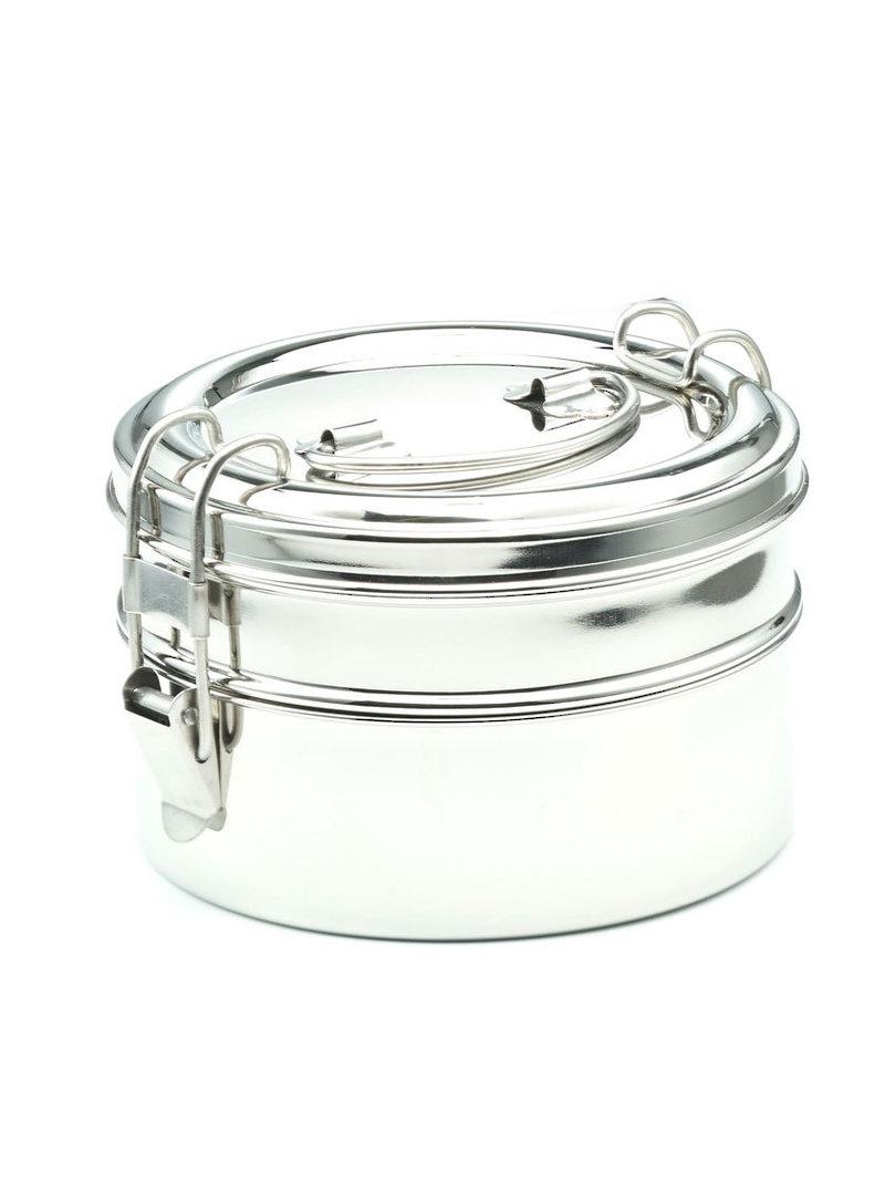 Meals in Steel Tiffin Round Lunchbox image 0