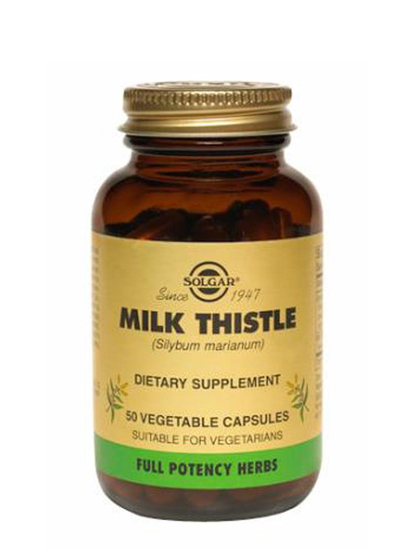 Solgar Milk Thistle, 50 Vegetable Capsules image 0