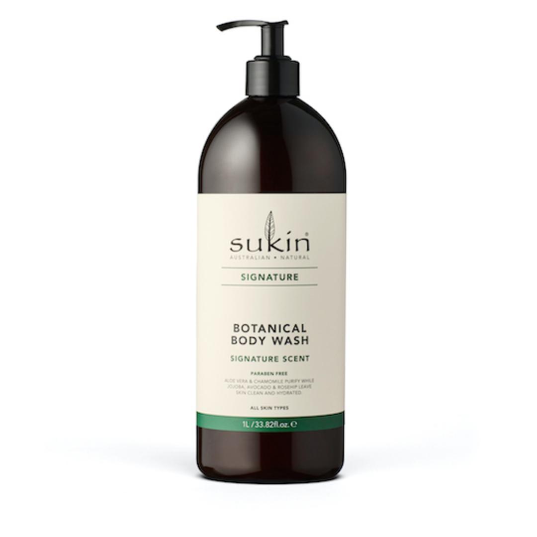 Sukin Organics Botanical Body Wash, 1L Pump or Refill image 0