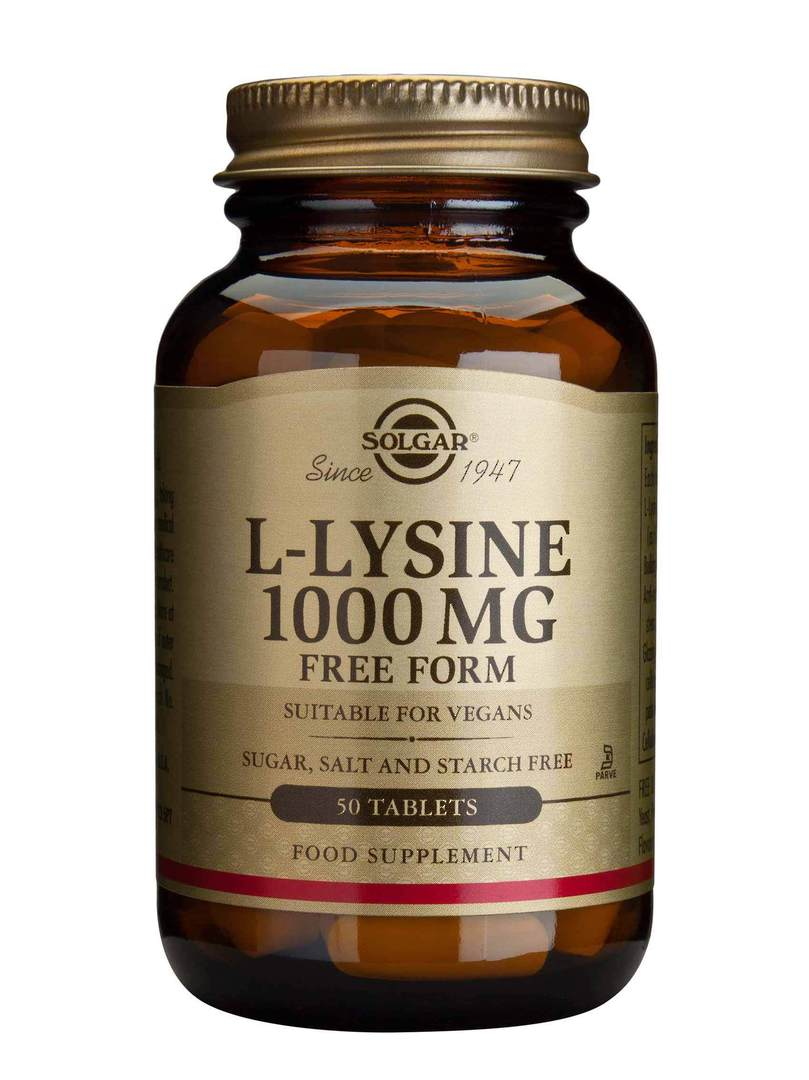 Solgar L-Lysine 1000mg (50 Tablets) image 0