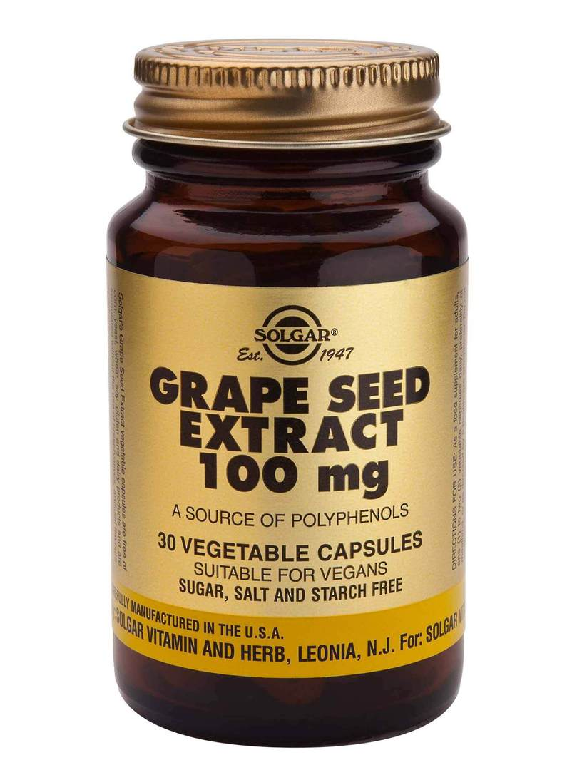 Solgar Grape Seed Extract 100mg (30 Capsules) image 0