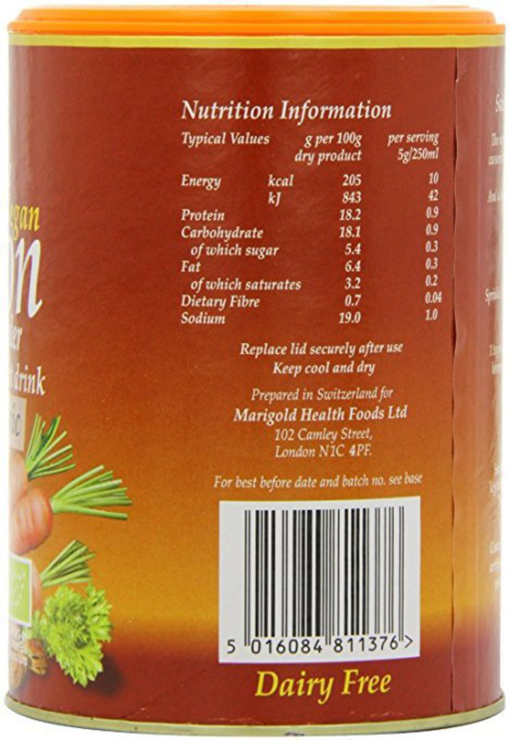 Marigold Organic Bouillon Stock Powder (vegan), 150g image 1