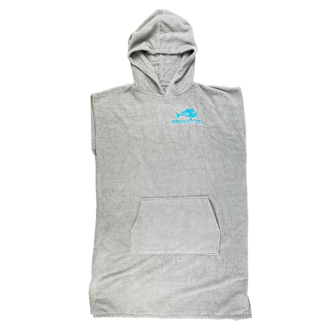 Ocean Hunter Hooded Poncho - Medium Grey image 0
