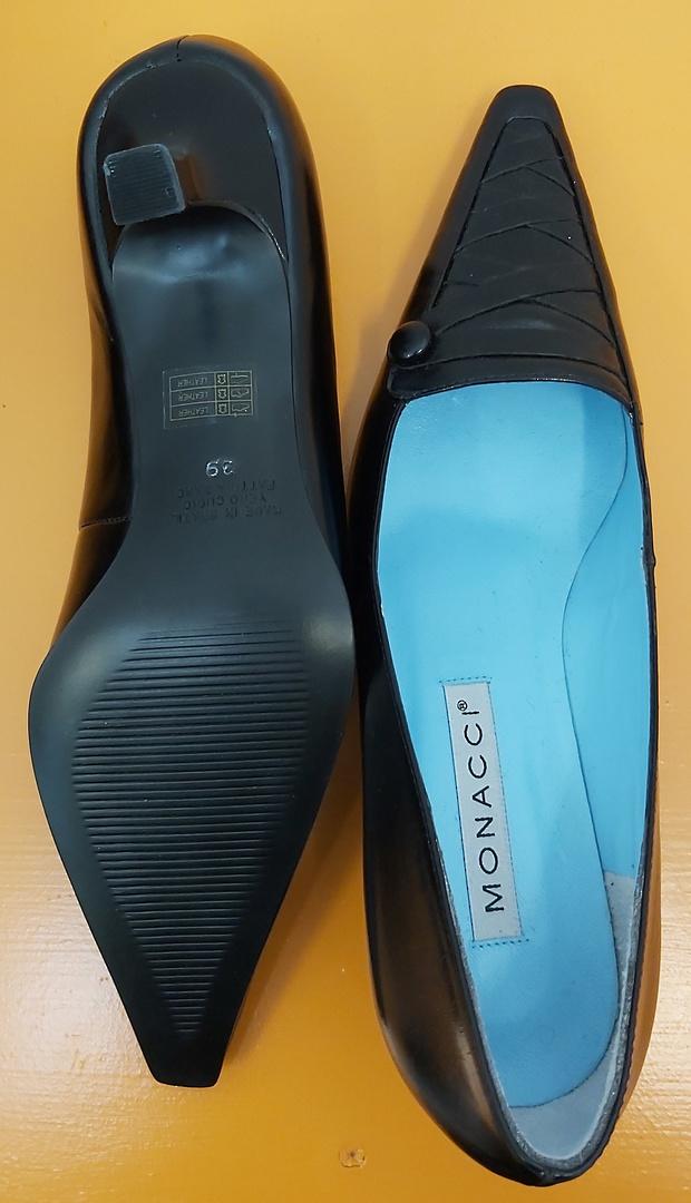 Monacci Black Leather Dress Shoes image 3