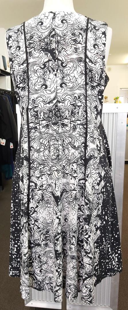Taking Shape Black and White Print Dress image 1