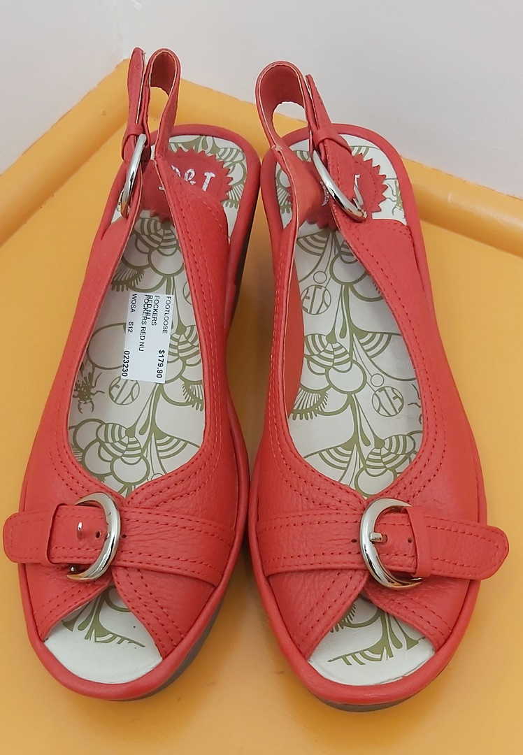 D&J New Red Sling Back Sandal image 0