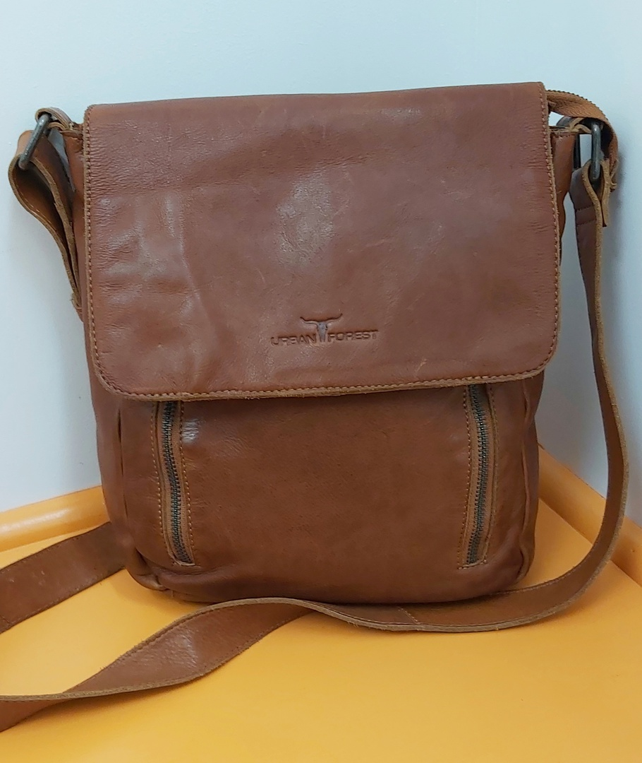 Urban Forest Leather Satchel image 0
