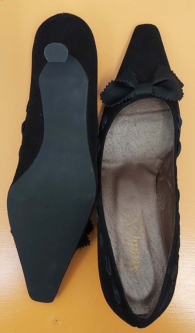 Molly N Black Suede Shoes image 4
