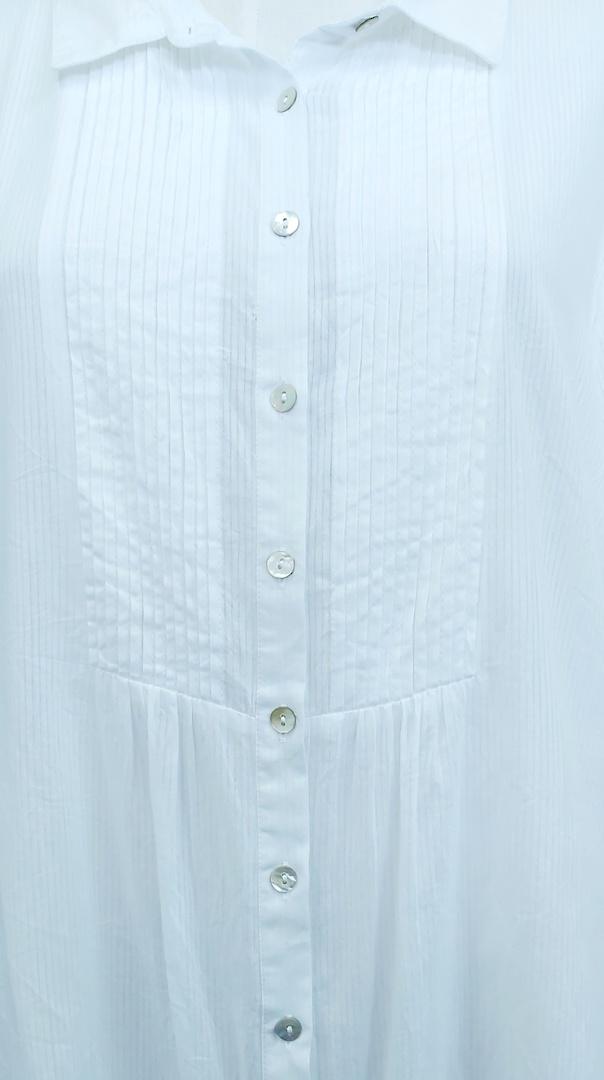 Virtuelle Pintuck Cotton Shirt image 1