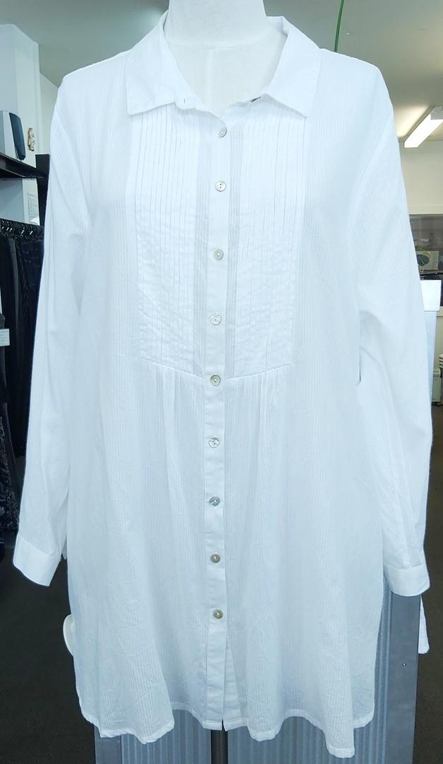 Virtuelle Pintuck Cotton Shirt image 0