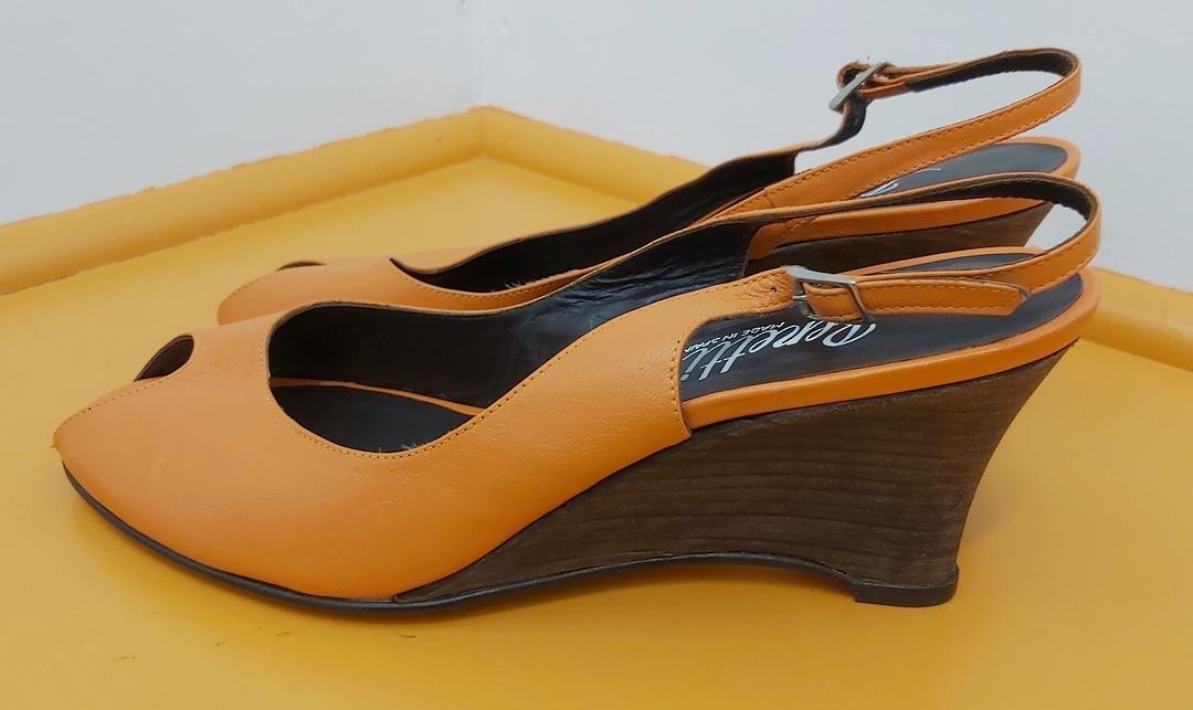 Renetti Orange Sling Back Sandal image 1