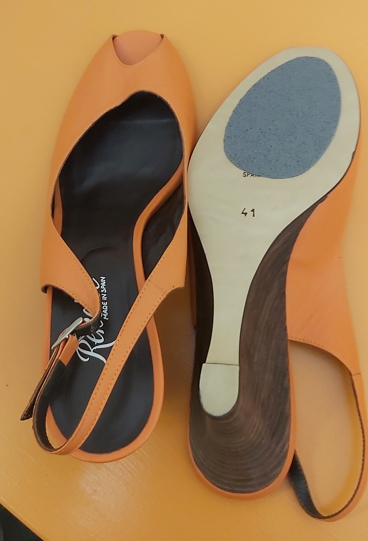 Renetti Orange Sling Back Sandal image 3