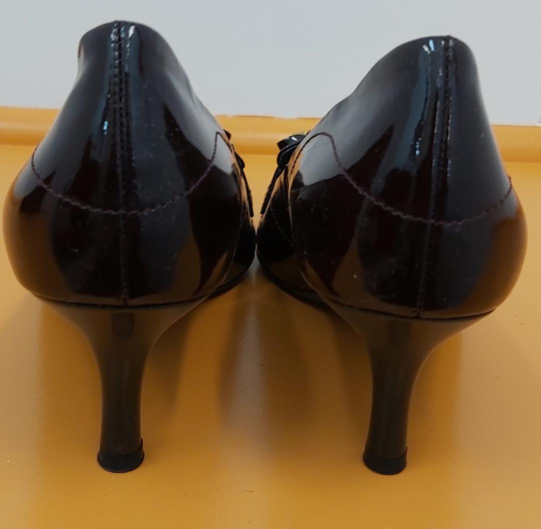 Hogl Dark Plum Leather Shoes image 1