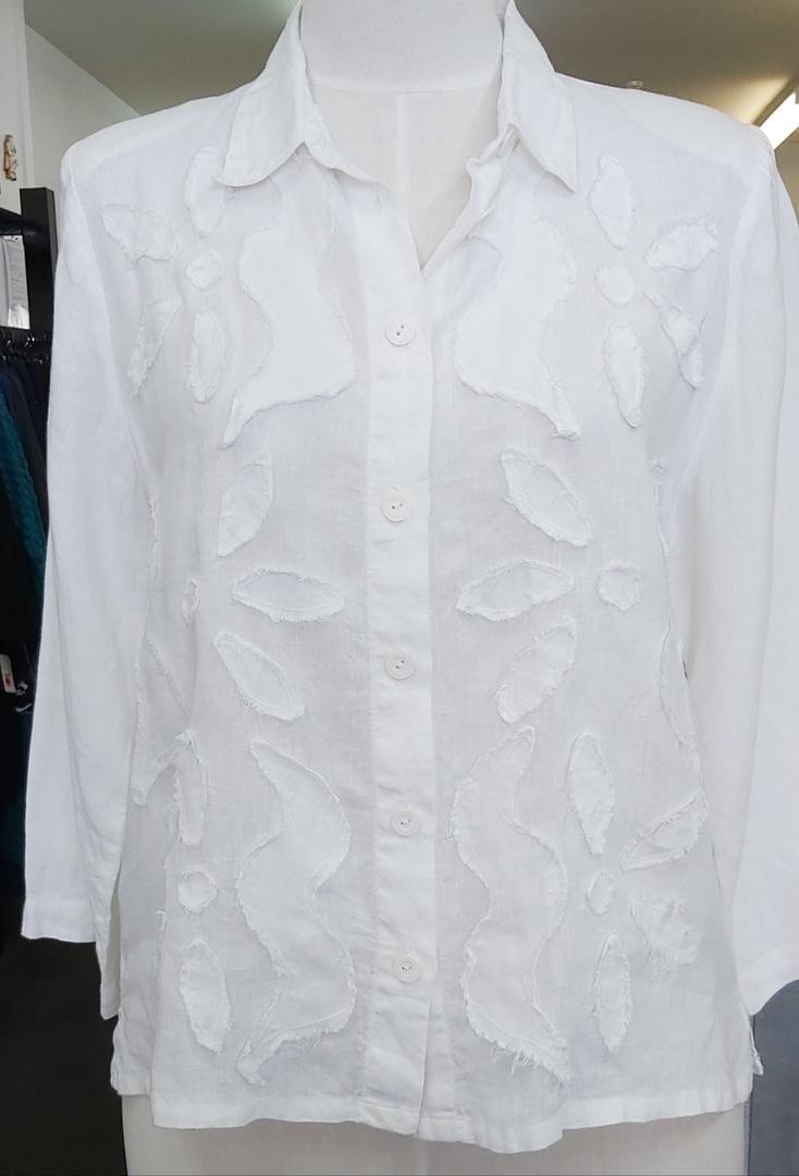 Tevi White Linen Shirt image 0