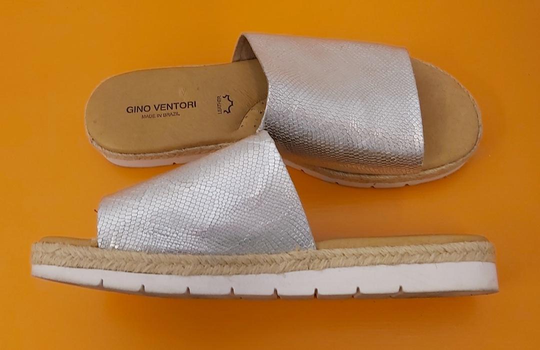 Gino Ventori Silver Sandals image 1