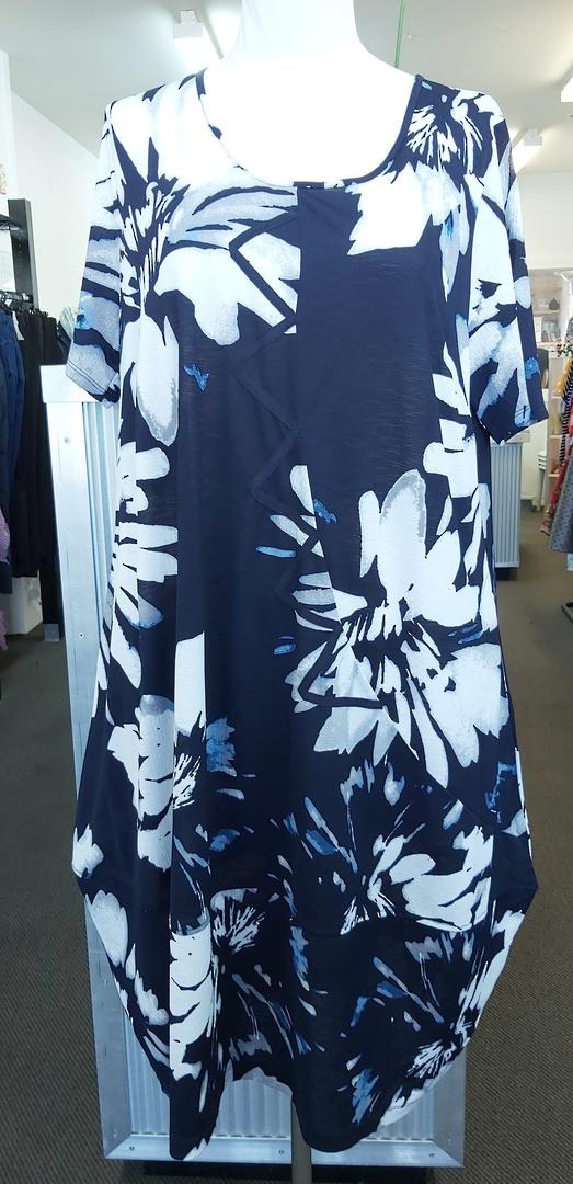 Taking Shape Blue Print Dress image 0