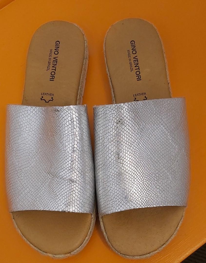 Gino Ventori Silver Sandals image 0