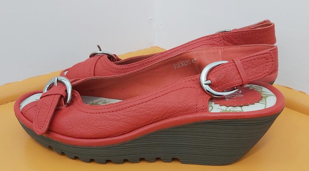 D&J New Red Sling Back Sandal image 1
