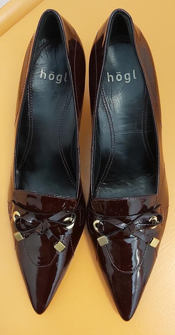 Hogl Dark Plum Leather Shoes image 0