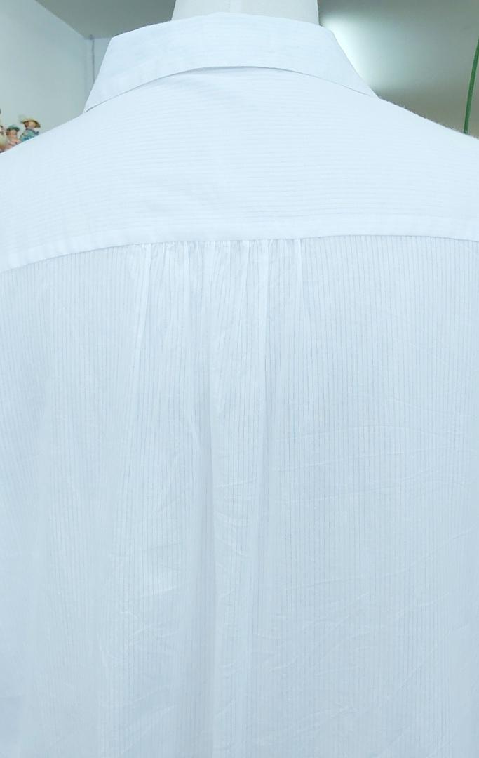 Virtuelle Pintuck Cotton Shirt image 2