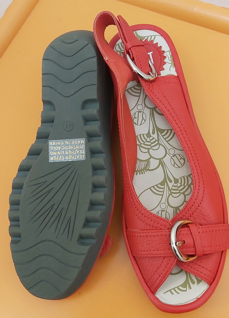 D&J New Red Sling Back Sandal image 3