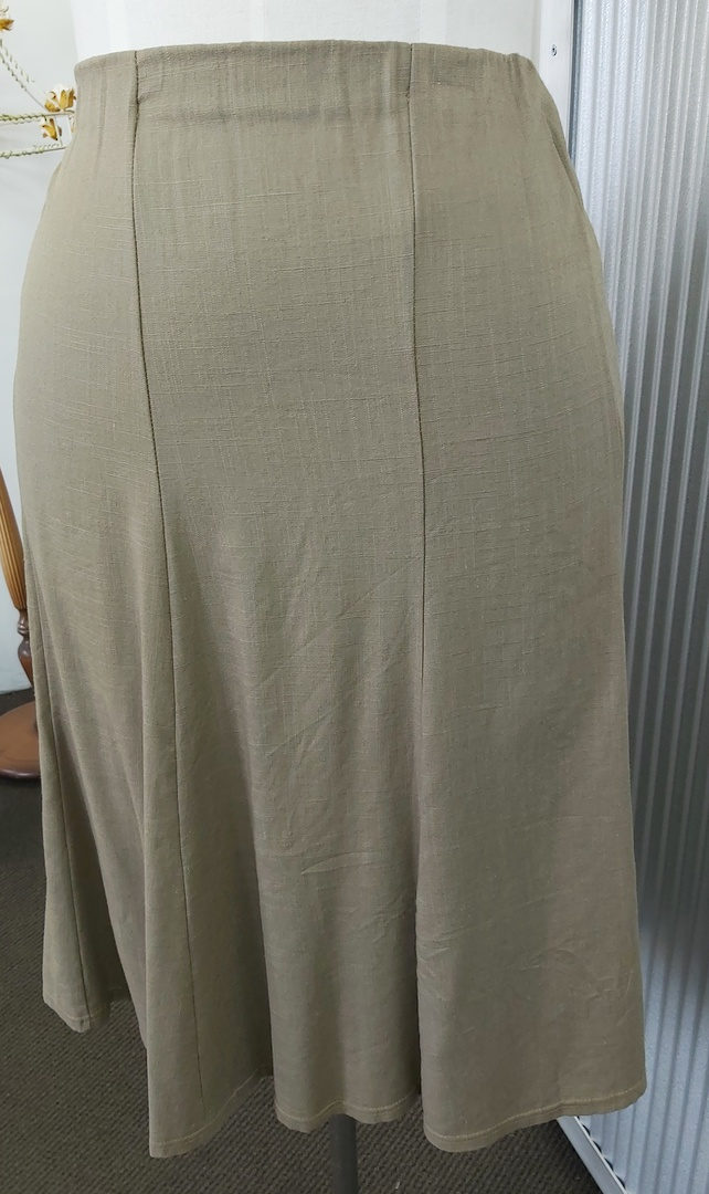 LS Collection Linen Mix 8 Gored Skirt image 0