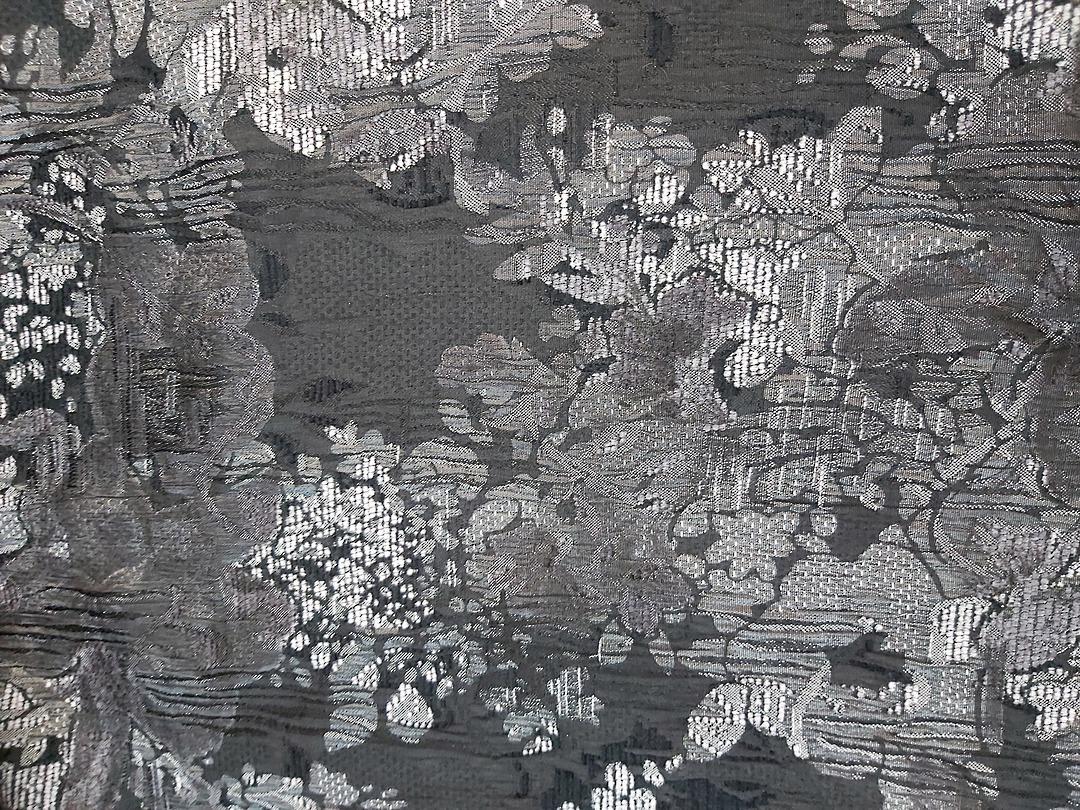 Print Brocade Black and Silver Print image 0
