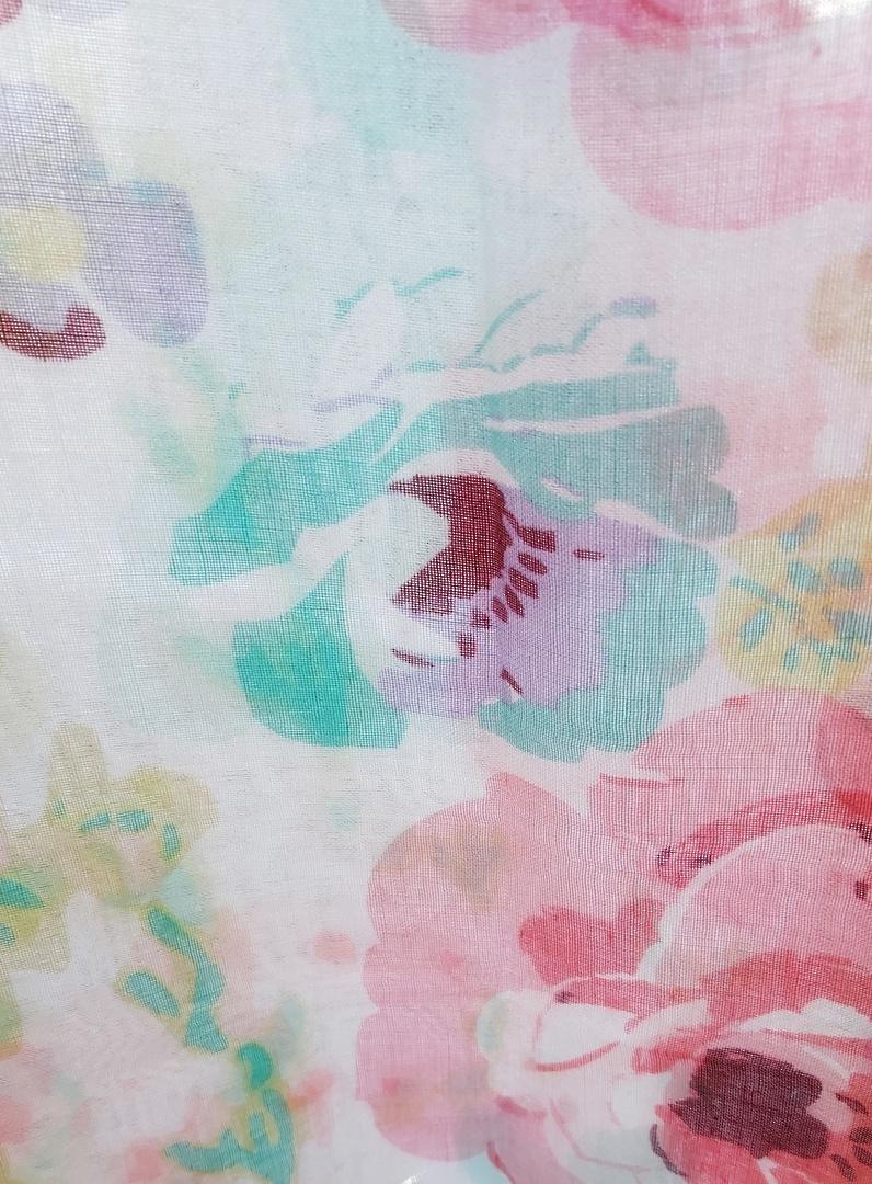 Pink Print Scarf image 0