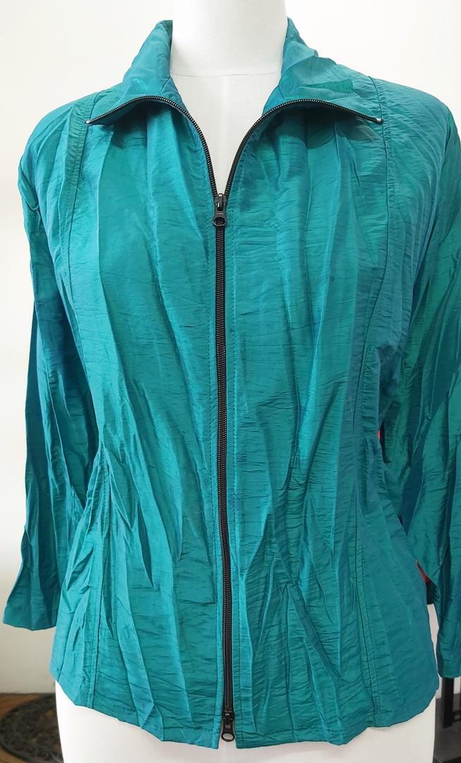 Cashews Crinkle Satin Zip Shirt image 0