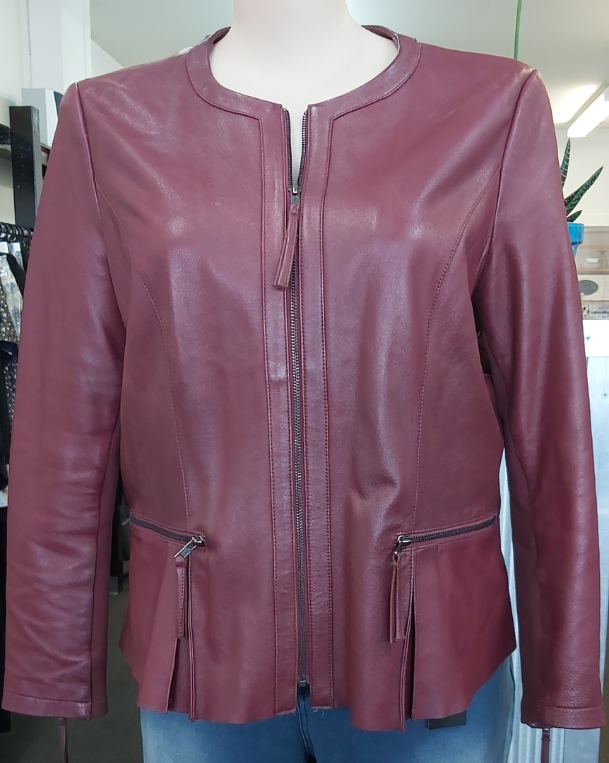 Capture Leather Dress Jacket Merlot image 0