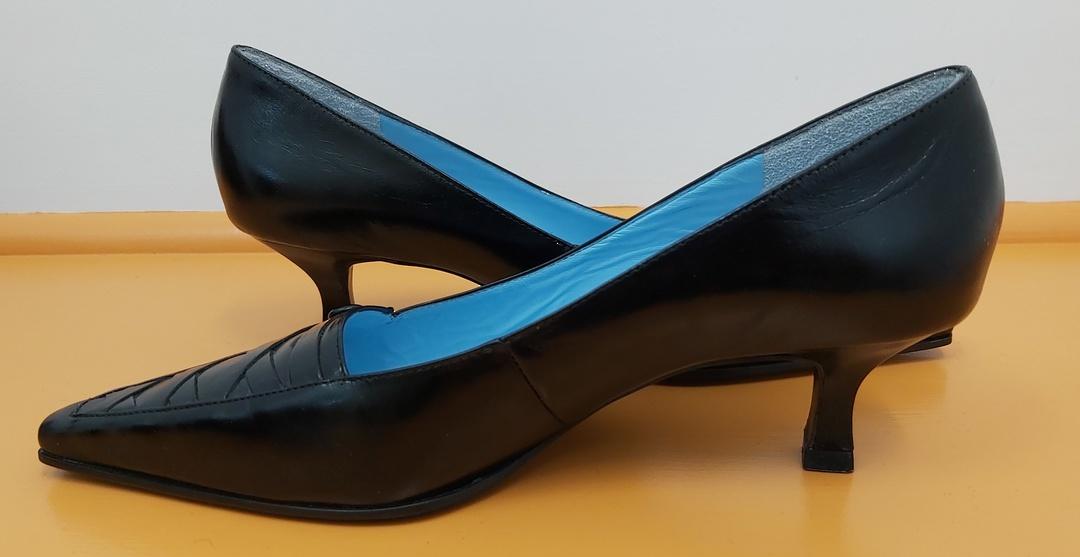 Monacci Black Leather Dress Shoes image 1
