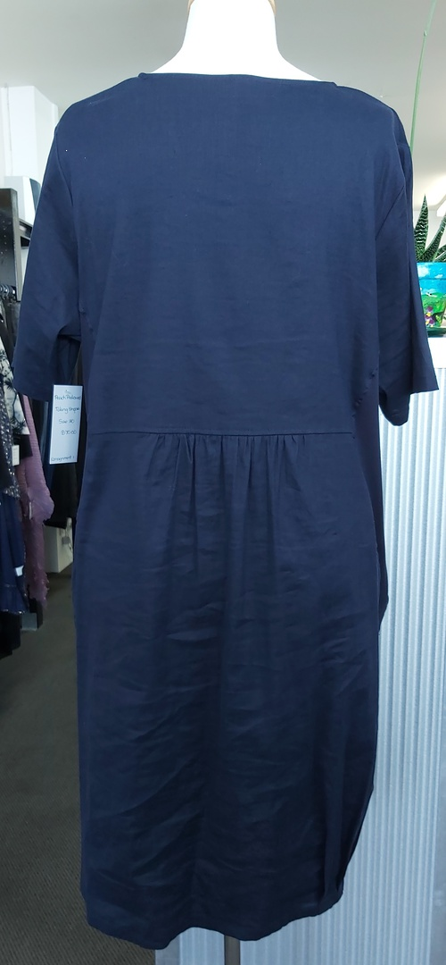 Taking Shape Linen Tuck Dress image 1