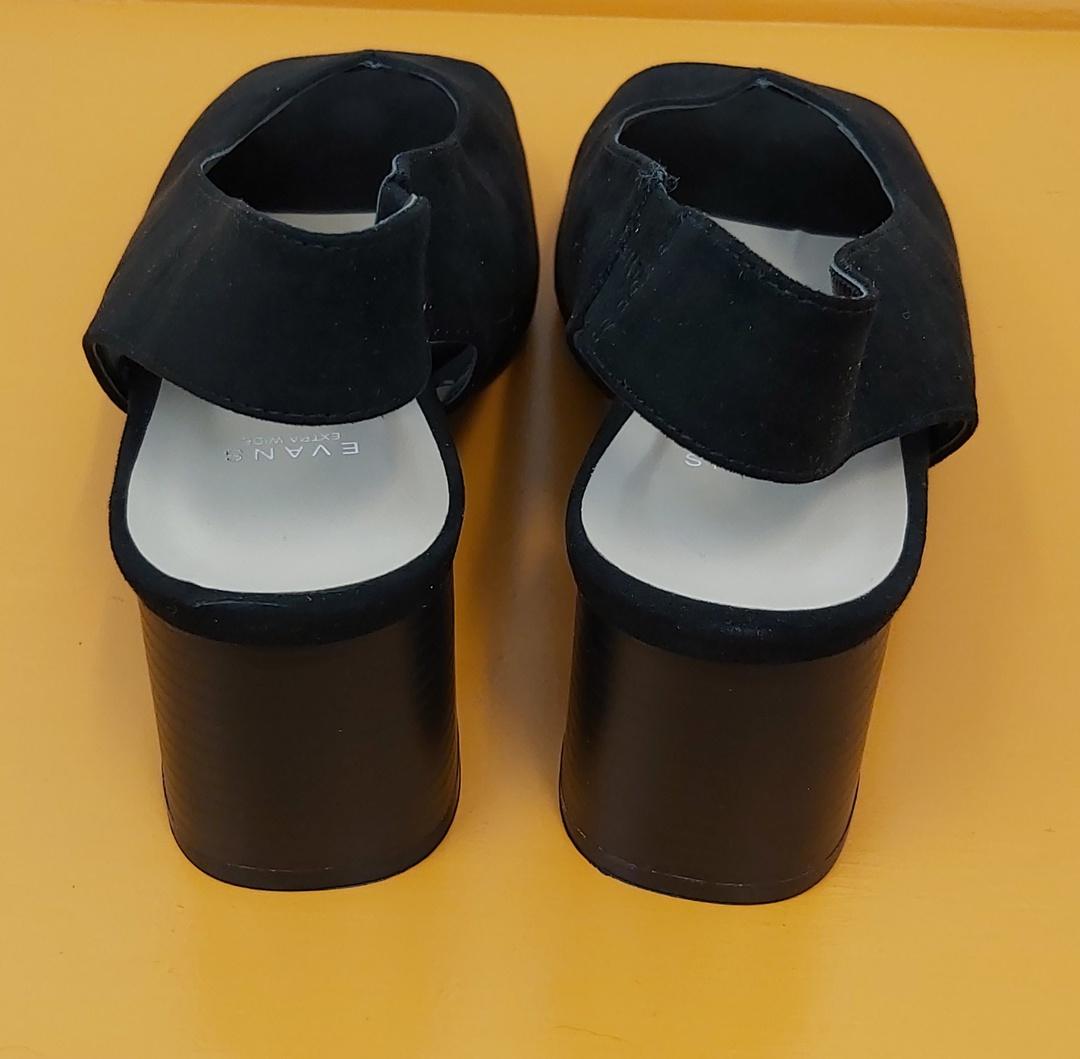 Evans New Black Dress Shoe image 4