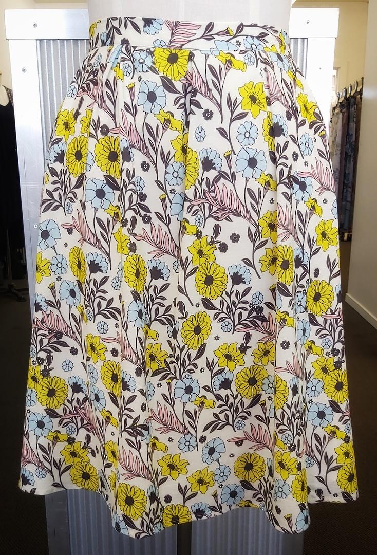 Modcloth Flower Print Lined Skirt image 0