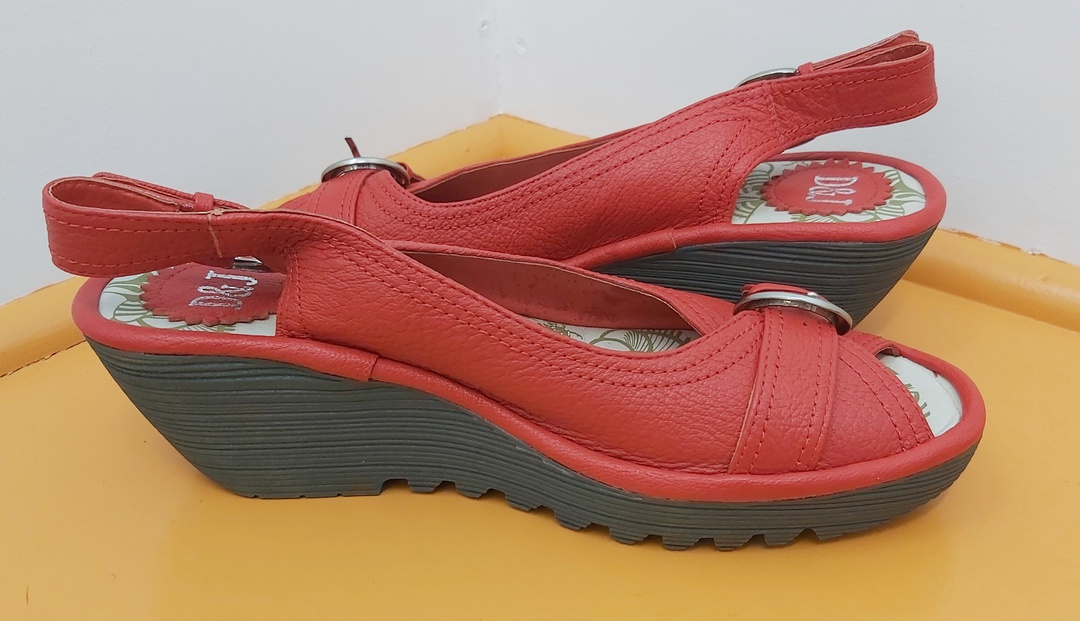 D&J New Red Sling Back Sandal image 2